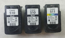 Canon Empty Ink Cartridges 510 and 511