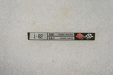 NOS New GM 367673 Console Specifications Decal Plate L82 L-82 75-76 Corvette
