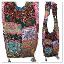 INDIAN Tote Patch Work Hippie Boho Festival Banjara Tribale Cotone Borsa A Tracolla