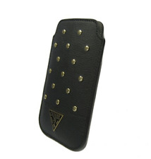 Housse Etui Universel GUESS Studded Noir compatible SAMSUNG Galaxy Core 4G