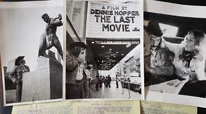 DENNIS HOPPER, Director-Artist, 3 RARE Candids in NYC, THE LAST MOVIE 1971