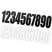 "MOTOCROSS RACE NUMBERS X 6 BLACK OR WHITE 6"" mx racing number"