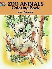 Zoo Animals Colouring Book by Jan Sovak (Hardback, 1993)