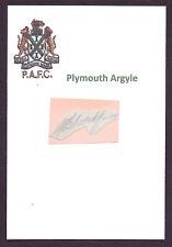 PADDY BLATCHFORD PLYMOUTH ARGYLE 1948-1951 RARE ORIGINAL HAND SIGNED CUTTING