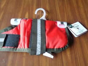 OUTDOOR DOG SAFETY VEST HORSE BLANKET COAT WITH REFLECTIVE STRIP SIZE XS S RED