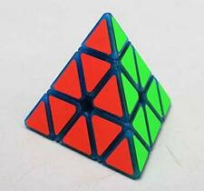 Magnetic 3x3 Pyramid Puzzle Speed Cube Luminous Blue Pyraminx Stress Relief Toy