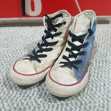 Used Converse Kid's White/Denim Blue Casual Hi-Top Sneakers size 1.5