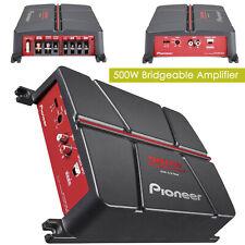 New Pioneer Gm-A3702 500 Watt 2-Channel Class Ab Car Audio Full Range Amplifier