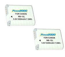 TWO 2X Batteries NB-12L for Canon PowerShot G1 X Mark II MK2, N100, VIXIA mini X