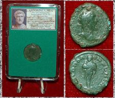 Ancient Roman Empire Coin Antoninus Pius Hermes Nicemedia, Bithynia