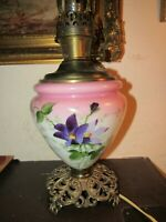 Antique ALADDIN HAND PAINTED GONE WITH THE WIND Lamp Electicfied