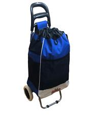 Loadrunner, Blue Shopping Grocery Foldable Cart