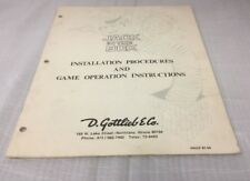 Gottlieb Jack In The Box Installation Procedures & Game Operations Instructions