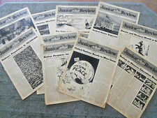 11 ISSUES OF THE 1946 JUNIOR REVIEW ~ FROM THE CAPITAL TO THE CLASSROOM