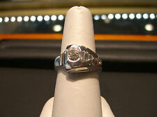 NEW MEN'S FINE DIAMOND RING 1.00 CARAT WHITE GOLD 14 KARAT WOW HANDMADE!