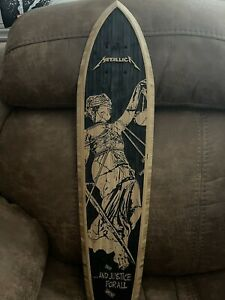 """METALLICA """"AND JUSTICE FOR ALL"""" LIMITED EDITION SKATEBOARD DECK 113/250"""