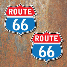 Route 66 Stickers 80mm car motorbike van cafe racer hotrod Retro Guitar Decal c