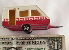 Vintage Majorette Caravane Caravan Camper #325 Red White Made in France