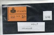 GB - Stamp Booklet - (343)  2/-d Booklet - N32P - Trimmed  perfs