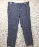 Women's Tommy Hilfiger dress pants MONTAUK straight chino polka dot size 12