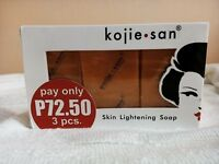 Genuine 3X65g Kojie San Kojic Acid Soap Bars Skin Lightening Kojiesan Whitening