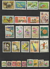 années 80 Viêt Nam un lot de timbres oblitérés  / T1695