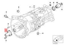 Genuine BMW E39 E46 E53 Sedan Engine Oil Dipstick Guide Tube OEM 23117501714