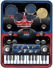 2 en 1 tambores de música de piano y teclado Jam Alfombra aprender divertido electrónico kit de tambor
