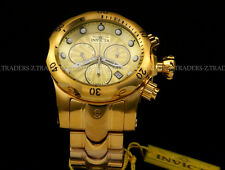 New Invicta Venom Swiss Chronograph 53mm 18K Gold Plated 1000M Bracelet Watch