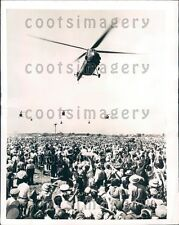 1954 Helicopters Fly in Formation Over Tushino Russia Press Photo