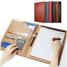 Clipboard Folder Portfolio, Leather Storage Cover for Letter Writing Pad,Notepad