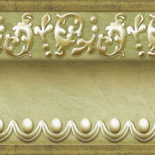 Gold Beige Wallpaper Border Moulding Effect Self Adhesive Wall Covering HT-023