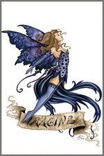 "Imagine Amy Brown Fairy In Dark Blue Magnet 2""x3"" New"