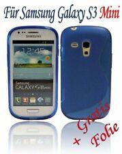 HANDY ZUBEHÖR Samsung Galaxy S3 Mini TASCHE SCHUTZHÜLLE SOFT CASE /// Blau