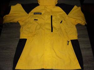 Columbia Nylon Yellow & Black Lined & Hooded Winter Snowboarding Skiing Jacket