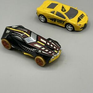 2016 RC Pocket Racers YELLOW FURY * Car Only * Plus Hot Wheels Urban Agent Open