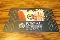 REGAL Movie GIFT CARD NO VALUE-Never Used or Activated Collectable 2013 New