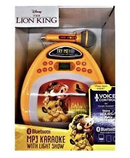 Disney Lion King Bluetooth MP3 Karaoke Machine with Light Show & Store Music