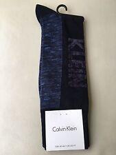 Calvin Klein Mens Large Logo Socks Navy Blue UK 6½-11