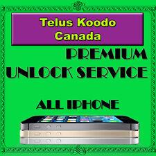 Telus Koodo Canada Premium Unlock Service iPhone 4s 5 5c 5s 6 6+ 6s 6s+ SE 7 7+