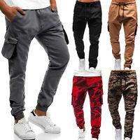 Men's Slim Fit Tracksuit Sport Side Pockets Trousers Jogging Joggers Sweatpants
