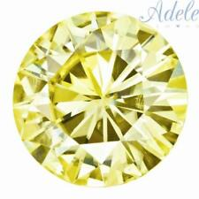 Loose Moissanite 6.5mm 1ct Canary Yellow Round Shape Charles & Colvard Certified