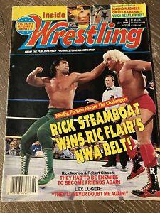 Inside Wrestling Magazine June 1989 - Steamboat vs. Flair
