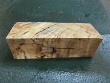 CM-SPALTED CURLY MAPLE  DELUXE  KNIFE BLOCK/SCALES/ CALLS/ PEN BLANKS--CM--2
