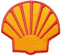 Patch Iron on Advertising Shell Motor Oil Gasoline Automotive Racing Garage Sign