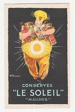 """Le Soleil"",Conserves,Poster Style Advertising,Belgium,c.1909"