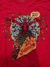 Loot Crate Deadpool 2 Pico-Boo! Mens Large Red T-Shirt Marvel Comics Taco NEW