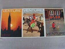 VENTURE The Traveler's World Hard Cover Book Lot of 3 1964-1965 - Free S/H