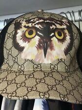 Gucci OWL Brown cap monogram GG supreme hat AUTHENTIC size Large  adjustable