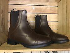 Jodhpur Boots Paddock Boots Riding Boots, BROWN, Size 7, FREE UK Postage